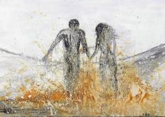 《奔跑吧--系列一》油画丙烯