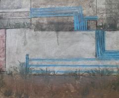 校蓝色水管