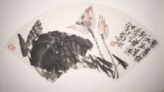 《花鸟扇面-1》许伟波作品
